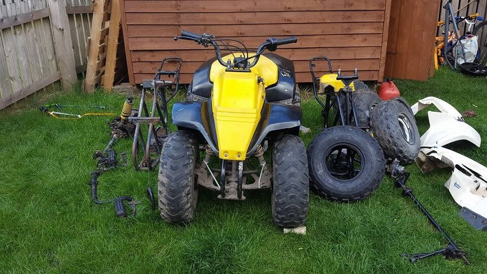 suzuki lt80 quad bike and spare parts with 2 spare frames. | in