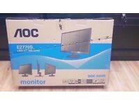 "AOC E2770S 27"" MONITOR BRAND NEW WITH RECEIPT"