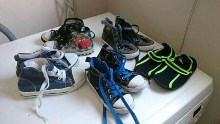 Five pairs of boys shoes size 8 and 9 reduced to $10!