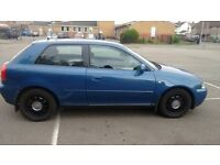 2003 52 AUDI A3 3DR 1.6 MOT FEB 2017 £450 TODAYS PRICE ONLY