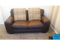 2 genuine Italian leather sofas
