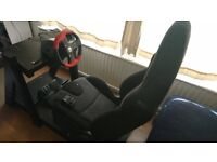 Hand-made Gaming Car Seat with Logitech Formula Force EX wheel and pedals