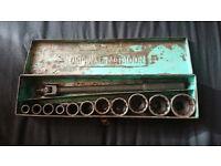 Vintage Original Matador AF socket set ratchet set tool box vintage made in germany