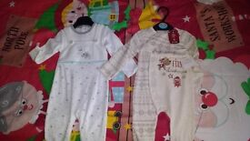 BRAND NEW 0-3 BABYS FIRST CHRISTMAS SET + 6-9 MONTH SET £8 FOR BOTH
