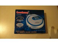 Goodmans Personal CD Player. New. Still in box, fully packaged. GCD 308 RSB. Remote vol. control