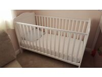 Cot bed and quality matteress