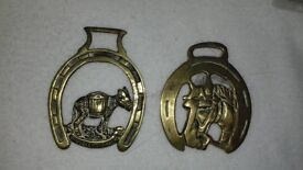 2 Horse Brass Collectables