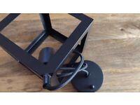 Black Cube Hanging Light Shade & Pendant (BRAND NEW)
