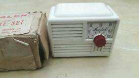 Vintage IVALEK DELUXE CRYSTAL RADIO SET