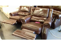 Electric Recliner Leather Suite./ Sofa 3+ 1 + 1... Local Delivery......