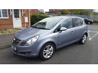 58 PLATE VAUXHALL CORSA SXI 1.2 PETROL, 5 DOOR HATCHBACK LADY OWNER 0NLY 54K FULL SERVICE HISTORY,