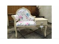 Vintage shabby chic telephone seat
