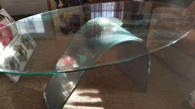 Contemporary Dining Table - Oval Tempered Glass 69