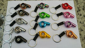 NOS, LED Turbo Spinning Noise Keyrings, Metal Protector for Mini Cooper Wholesale ONLY