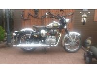 CLASSIC ROYAL ENFIELD CHROME 500 BULLET ... AS NEW