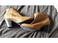 brown leather boots and black leather boots for sale