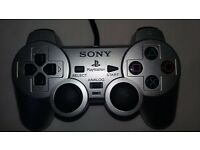 Official Sony PlayStation 2 (PS2) Silver Duel Shock Analogue Controller