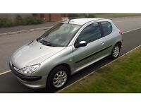 peugout 206, 54 plate, 1.4 petrol, 12 months mot, 1 owner 84k full service history,immaculate
