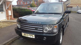 03 reg Range Rover HSE TD6 AUTO 3.0 Dirsel, 118 k, full service history, may mot, 3 owners,