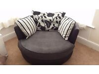 Large DFS swivel/cuddle chair
