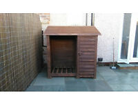 Log store with tool shed , FREE ASSEMBLY