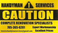 Handyman Renovations and Home Inspections
