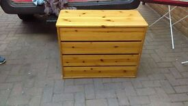 small pine chest of drawers - free local delivery
