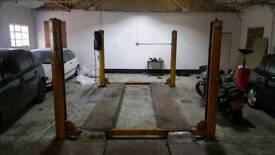 4 post car lift ramp