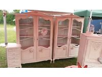 GENUINE french shabby chic Armoire display cabinet no 2 SALE