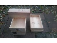 wood wine boxes, gift boxes, interior designer wine crates, garden wood box