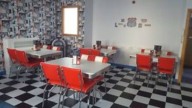 American Diner Retro tables and chairs. Round or square sets