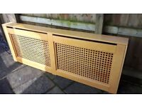 RADIATOR SCREEN CABINET COVER - X LARGE (223cm Long) - MDF Pine Colour