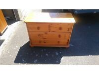 childrens pine chest of drawers