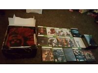 xbox 360 console and games (limited edition )