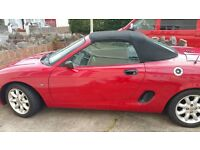 MG Convertable 2001 1600 car, good condition through out, full 12 months MOT. Great runner.