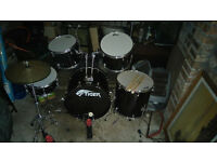 Tiger full-size Drum Kit - hardly used