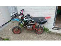 50cc pit bike for sale starts and runs(not cheap mini moto crap)