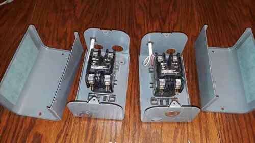 (2) Eaton Cuttler-Hammer C25DNF240 40A L/T1 L/T2 Series 1 Definite Control Boxes