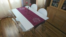 For sale John Lewis Jasper 6 Seater Dining Table +4 chairs.