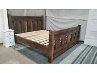 Rustic Slat Bed -Superking