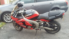 Kawasaki zx6r j1 2000 x reg