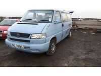 2001 VOLKSWAGEN TRANSPORTER T4 CAREVELLE 2.5 TDI BREAKING ONLY ALL PARTS AVAILABLE