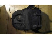LowePro Camera Bag - 2 sections for travel, fits DSLR 2 lens and more