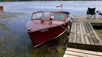 26 ft Andress wood utility boat