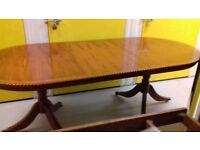 Regency dining table,Yew wood,165-220CM,extendable,castor,very good,no chairs