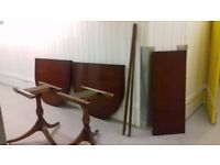 Regency dining table,mahogany,155-230CM,extendable,very good condition,no chair