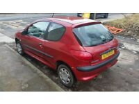 Peugeot 206 1.1 petrol manual only 2 Owners and 63000 Miles £425 NO OFFERS