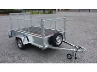TRAILERS WITH MESHSIDES & RAMP LED LIGHTS SPARE WHEEL HEAVY DUTY