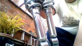 Pair of rear shock absorbers for a Yamaha RS 125 (Used)