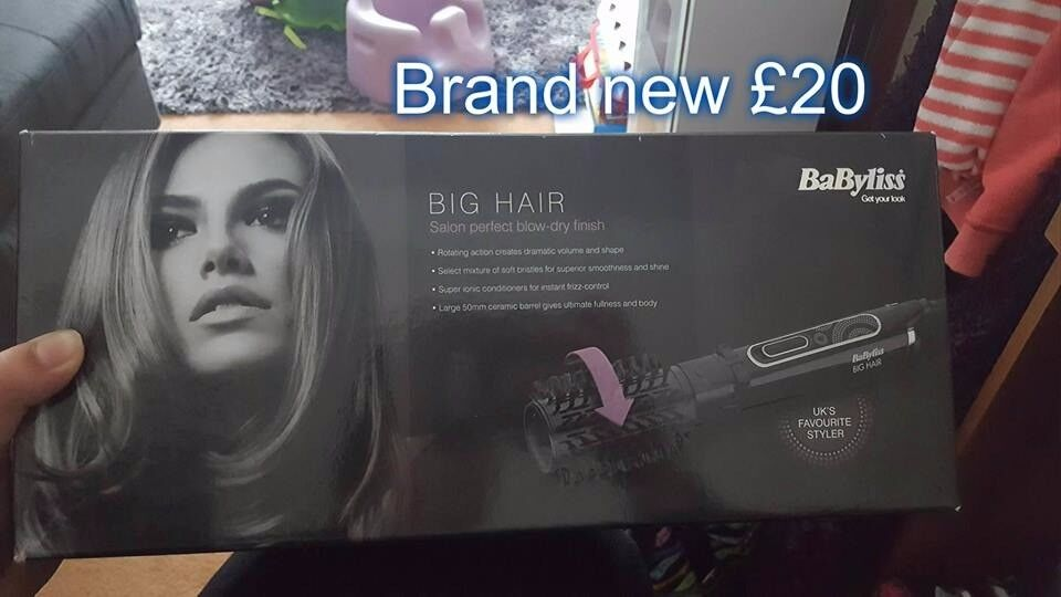 Babyliss big hair, helping with salon blow dry finish, brand new